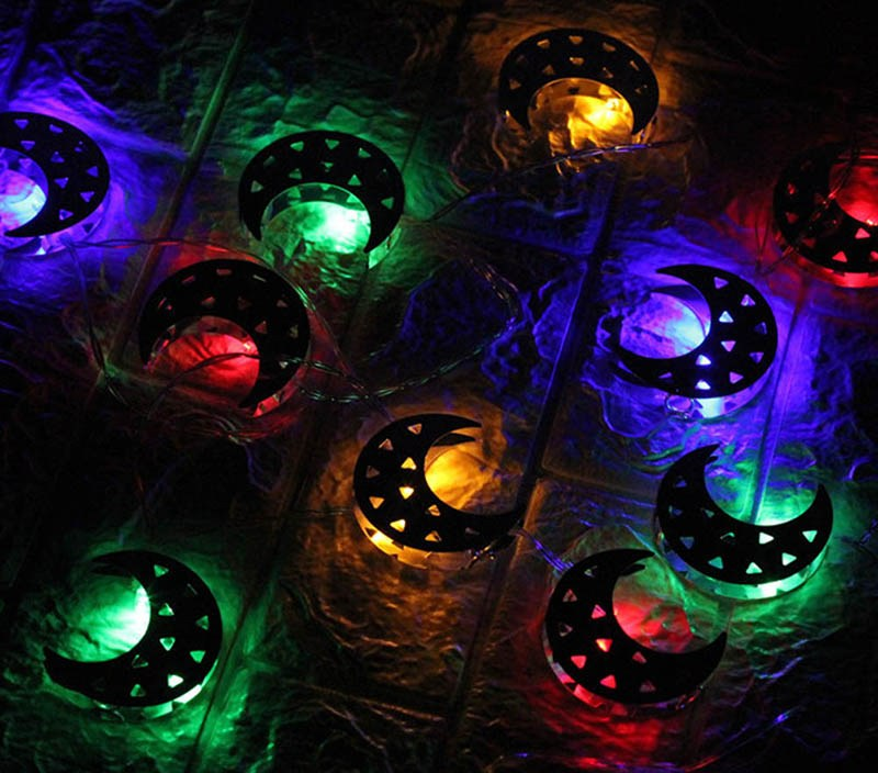 Ramadan Decoration Moon Star LED String Light EID MUBARAK Decor For Home Islam Muslim Ramadan Party Decor