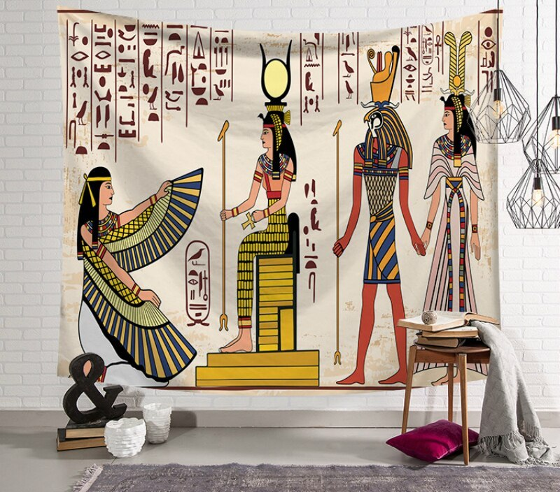 Wall Tapestry Hanging Ancient Egypt Hippie Macrame Psychedelic Tapestry Home Decor Throw Travel Witchcraft Wall Cloth Tapestries