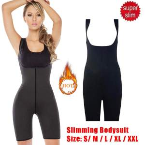 Weight Loss Corset Shapewear Women Full Body Shaper Neoprene Sauna Suit Slimming Burne Tummy Fat Yoga Trainer Sportswear Black