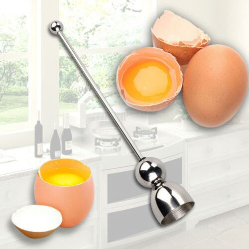 Creative Home Design Egg Tool Durable Egg Topper Shell Opener Boiled Raw Egg Open Kitchen Stainless Steel Open Egg Apparatus