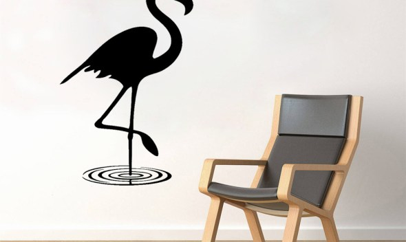 JOYRESIDE Bird Animals Wall Flamingo Decal Vinyl Sticker Decor Bedroom Living Room Interior Home Design Decorations Murals A341