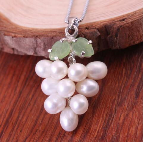 Sale Necklaces and Pendants Necklace Natural Leaf Of Genuine Water Genuine Grapes Fashion Bead>Selling jewerly free shipping