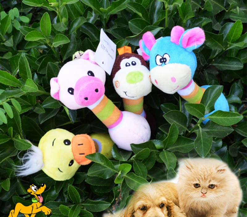 Sale 1PC New High Quality Plush Soft Sound  Multi-Color Puppy Cute Gifts Animal Shape Dog Toys Funny Chew Toy Squeaky