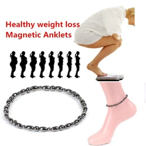 Weight Loss Anklet Black Stone Weight Loss Product Jewelry Magnetic Therapy Bracelet Anklet