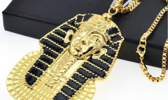 Ancient Egypt Charm Necklace Pharaoh King Gold Color Stainless Steel Necklaces & Pendants Vintage Jewelry For Men/Women Gift