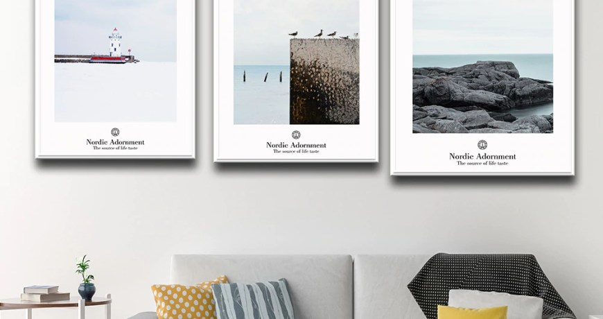Modern Seascape  Pictures For Home Design For Kitchen Poster Home Decor