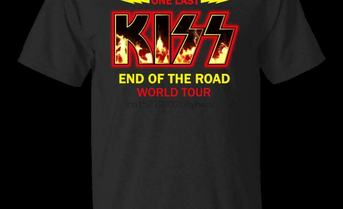 End Of The Year Kiss Road Tour 2019 Shirt Kiss Band T-shirt Black Navy Clothes