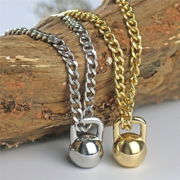 Weights Jewelry Pendant Lifting Jewelry Fitness Bikini Gifts Fitness Gifts for Girls Deadlifts Kettlebell Weight Loss Necklace