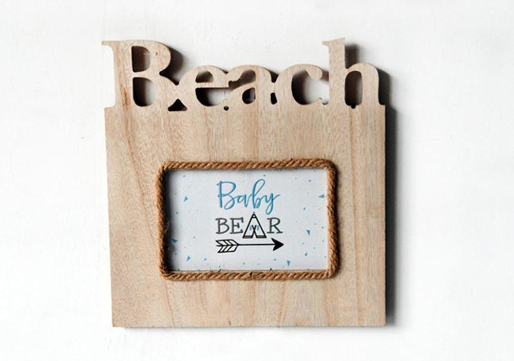 Creative  DIY Picture Frame Home Design Rectangle Wooden Photo Frame Letter Hanging Art Craft Gift Home Decor