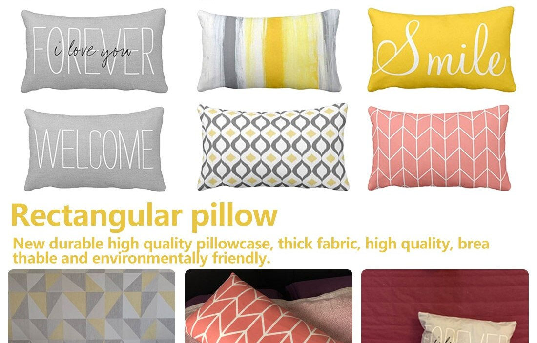 30X50 Rectangle Pillow Cover Home Design Pillowcase For Home Comfortable Sleep Pure Contract And Cool Pillowcase