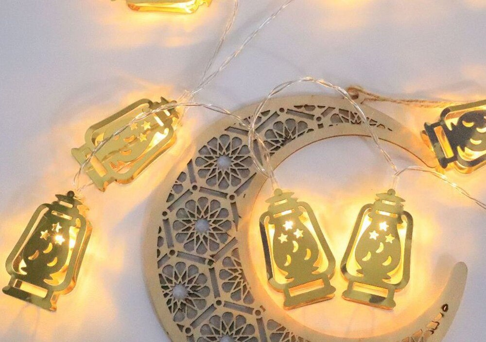 Ramadan And Eid LED Lighting String Hanging Ornaments Battery String Light Muslim Festival Party Home Suplies
