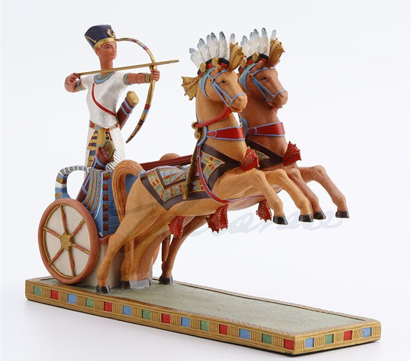 Ancient Egypt Ramses II Chariot Archery Art Sculpture Figurine Creative Resin Crafts Decorations For Home Birthday Gift M4080