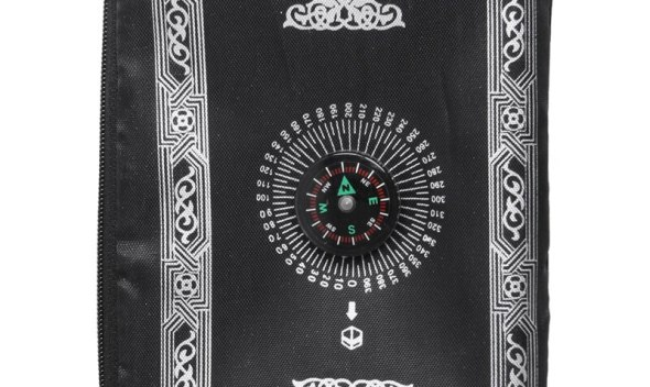 Ramadan Islamic And Muslim Travel Prayer Mats,Compass Pocket Size Tote Bags Black