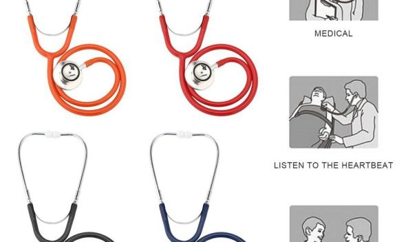 Spirit Medical instruments Professional Double-Sided stethoscope Lightweight Hand Hearing for Doctor Nurse Estetoscopio
