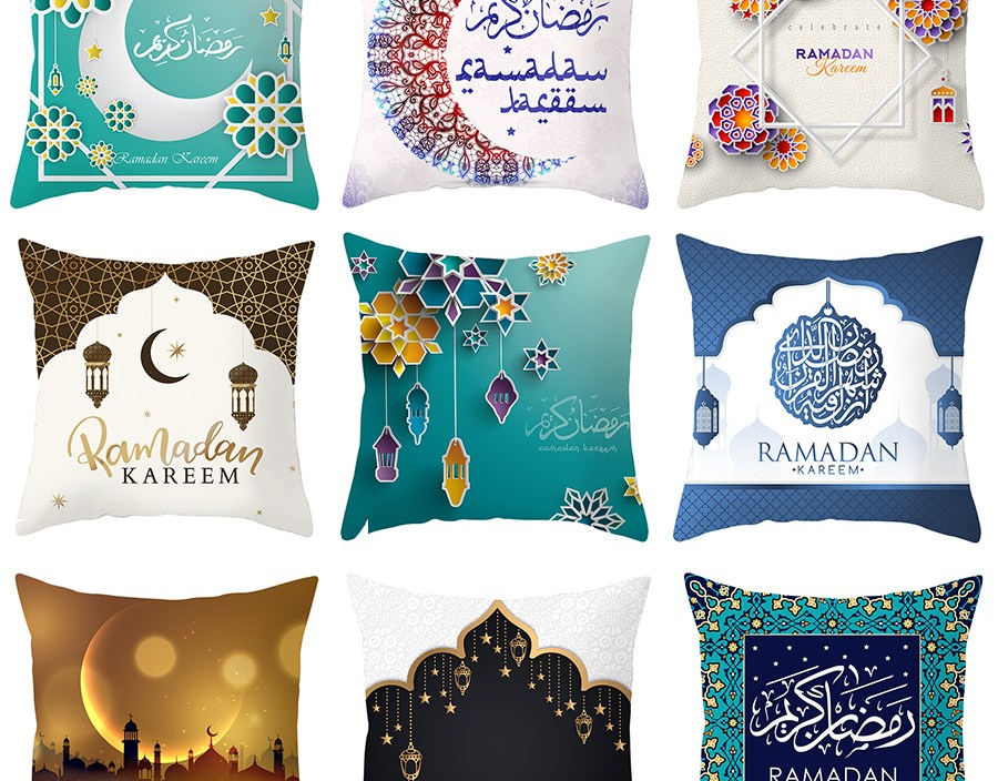 Ramadan Pillow Cover Decoration For Home Square Throw Pillow Case Ramadan Festival Supplies Party Favor Gift For Home