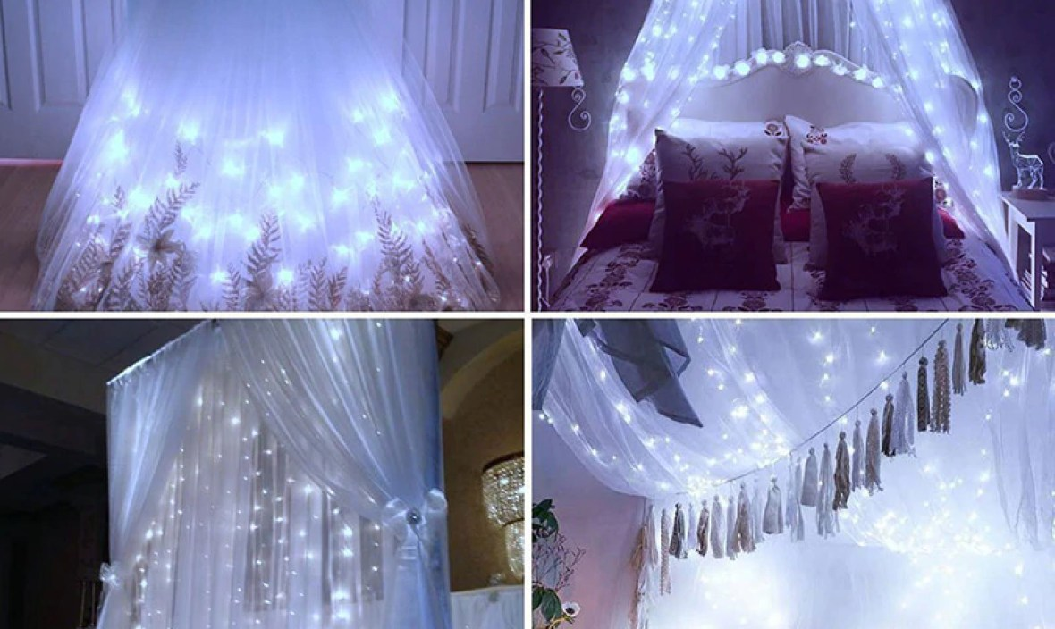 NewLED Strip String Lights LED Curtain String Light For Christmas Party Home Decor New Wedding Fairy Light Christmas