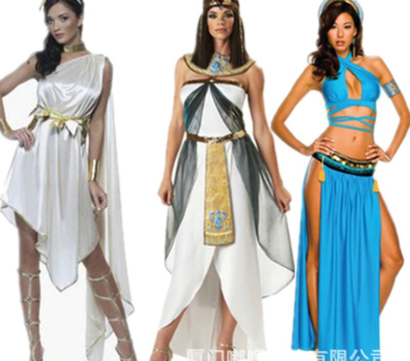Egypt Cleopatra-Halloween Costume Rome Queen-Ancient Egypt Arab Girl Service Stage Costume