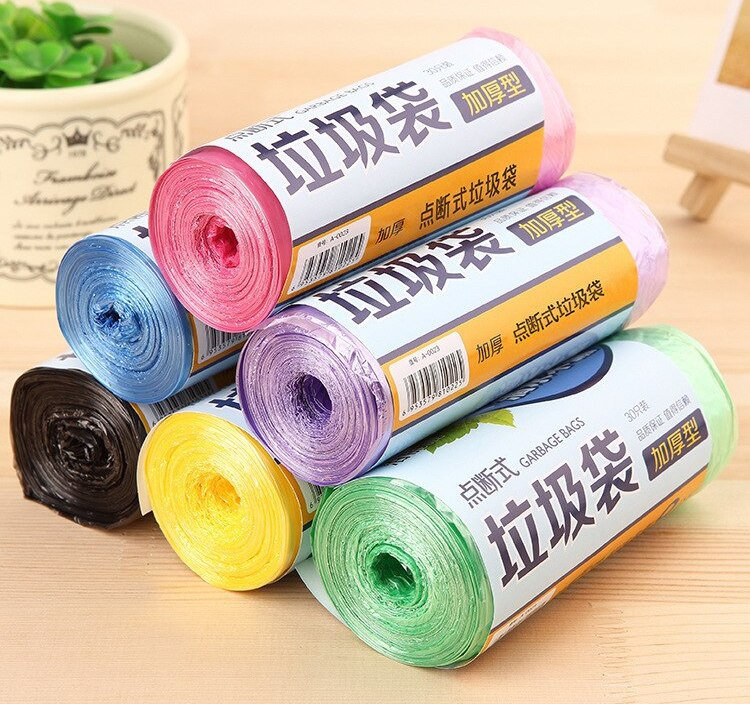 Sale High Quality Thick Color Garbage Bag Material Point Break-Disposable Universal Garbage Bag