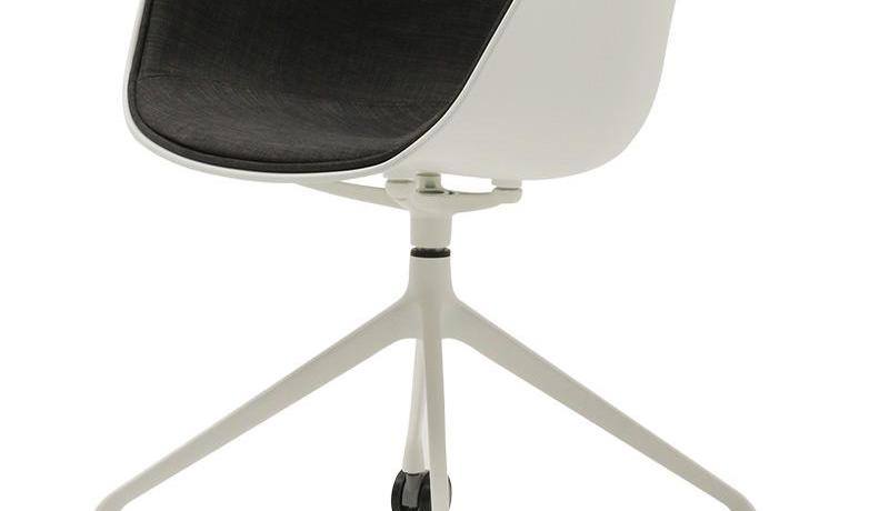 Nordic office chair study chair swivel chair back simple creative fabric home designer computer chair