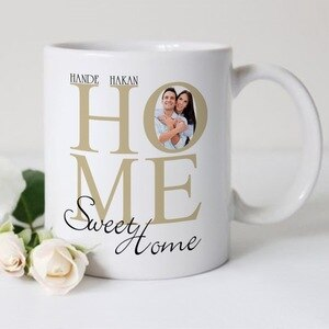 Personalized Home Sweet Home Design White Mug Cup-1