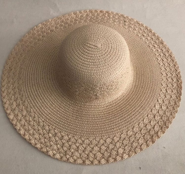 LVTZJ summer straw hat women big wide brim beach hat sun hat foldable sun block UV protection panama hat bone chapeu feminino