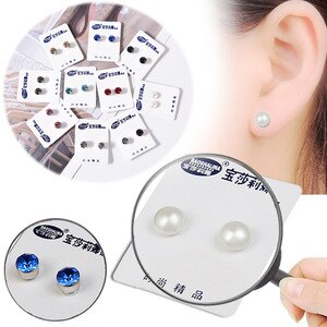 Weight Loss Magnetic Earrings Stud Earring Magnet In Ear Eyesight Slimming Healthy Stimulating Acupoints