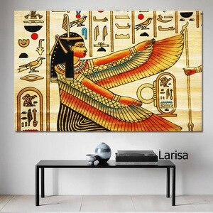 Retro Decor Poster Vintage Ancient Egyptian Canvas Painting On The Wall Decoration for Home Wall Art Picture for Home Design