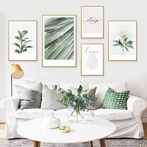 Bohemian Decor Poster Vintage Flower Leaves Text Pictures For Home Design Paint For Wall Home Decoration Posters And Prints