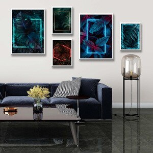 Modern Plant neon Pictures For Home Design Wall Pictures For Living Room Decor Home Decor Cuadros