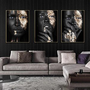 Abstract art African girl wall picture poster and prints no frame home decore black art home design canvas poster wall art