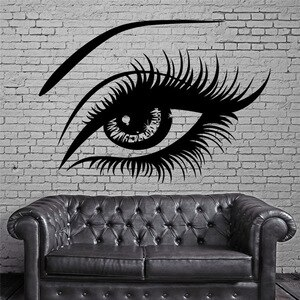 Big Eye Lashes Vinly Wall Stickers Sexy Beautiful Female Eye Wall Decal Decor Home Wall Mural Home Design Art Sticker