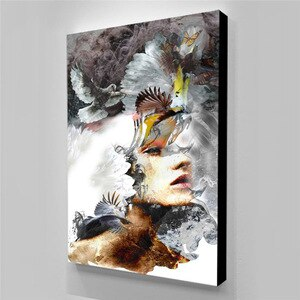 Wall Pictur Posters Canvas Prints Art Girl Canvas Painting Poster Decorative Pictures For Home Design Canvas Art Tuinposter