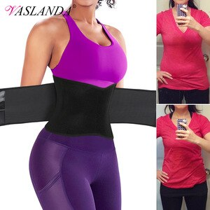 Weight Loss Waist Trainer Trimmer Belt Women Sauna Sweat Belly Band Compression Straps Slimming Body Shaper Fat Burning Corset