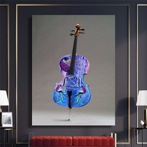 Wall Art Decor Canvas Painting Beautiful Violin Canvas Prints Pictures For Home Design Poster Decorative Nordic Style Painting