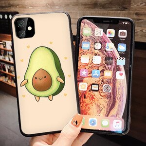 Weight loss gourmet avocado Avocado For iphone  11 Pro MAX Soft Silicone Phone Cover Case