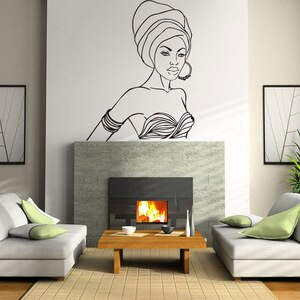 Beautiful African women Wall Decal Vinyl Stickers Interior Home Design Wall Art Murals Removable Self Adhesive room Decor  AM03