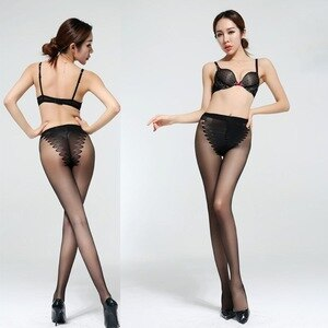 Ladies Seamless Ultra-Thin Sexy Pantyhose Reinforced Butterfly Crotch Underwear Slimming Tights Sheer Lingerie Stockings Shaper