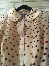 Marlee polka dot dress, collar detail