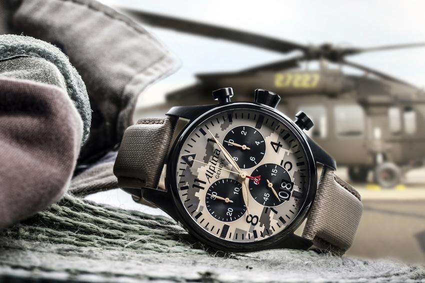 Alpina Startimer Pilot chronograph.