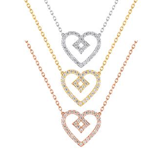 Tu as le Béguin ? Sans hésitation, oui ! Pour ces colliers en or jaune 9 carats et oxydes de zirconium. Prix : 249 €