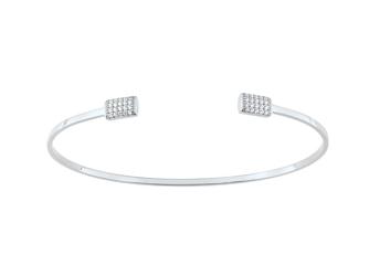 Collection Promesse by Lore. Bracelet en or blanc 9 carats et oxydes de zirconium. Prix : 399 €