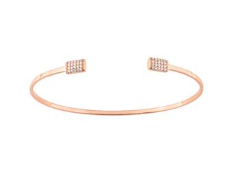 Collection Promesse by Lore. Bracelet en or rose 9 carats et oxydes de zirconium. Prix : 399€