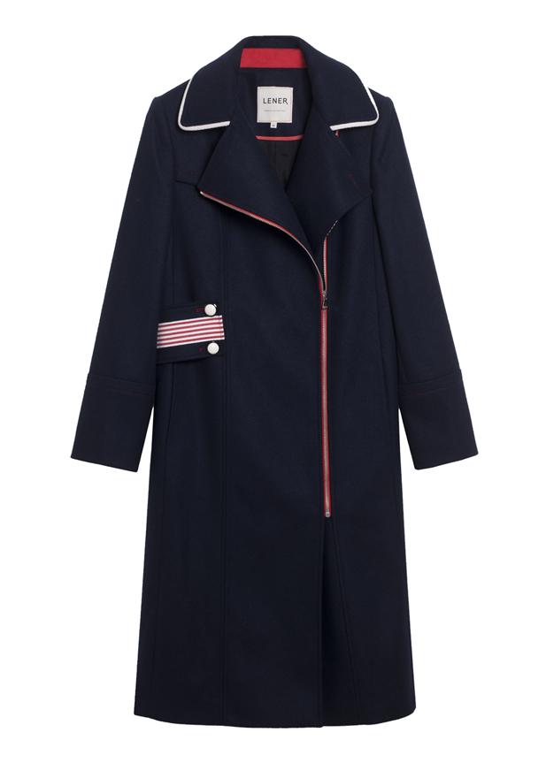 LENER. Manteau en laine, 580 €