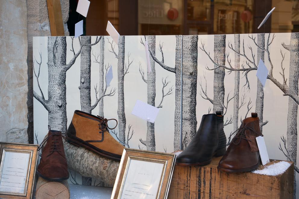 La vitrine de Noël chez Paire & Fils.