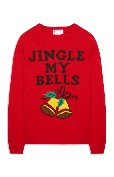 C'est kitch mais on adore les pullovers de Noël. Pull en laine mélangée Primark actuellement disponible en magasin. Prix :18 €