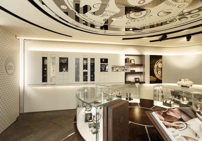 Clarté, luxe, calme et volupté : le cadre idéal pour succomber aux charmes de la production de la maison horlogère fondée par Ferdinand Adolph Lange et Gustav Bernhard Gutkaes.
