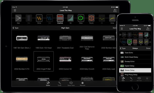 L'application intuitive « AMPLIFi Remote » propose de s'entraîner avec des sons de guitare.