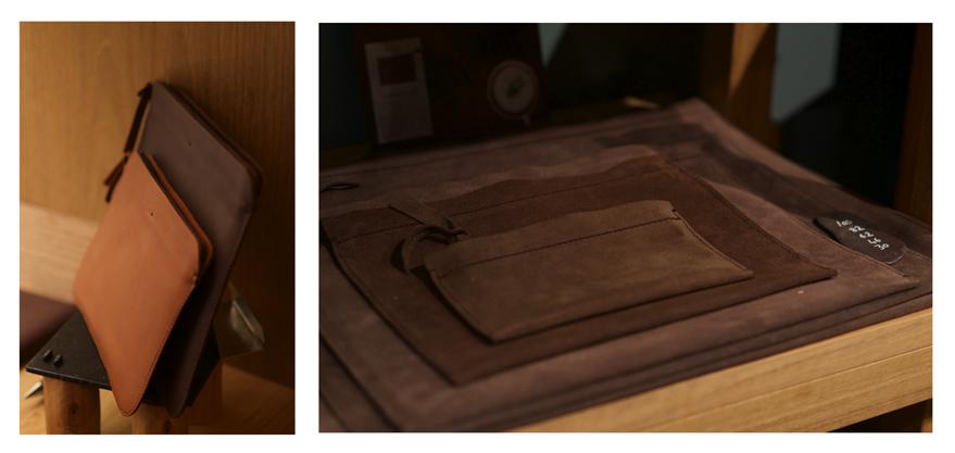 LABRADOR collection petite maroquinerie, rangements tablettes et ordinateurs portables.