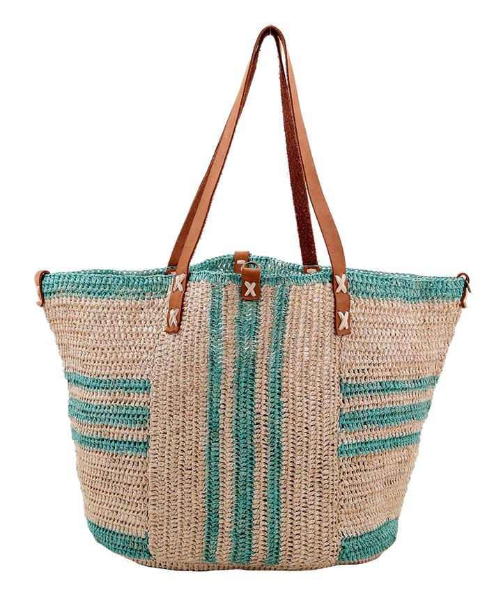 Ivanoha sac de plage en fibres naturelles. Le modèle TANALA existe en deux dimensions. À partir de 75 €