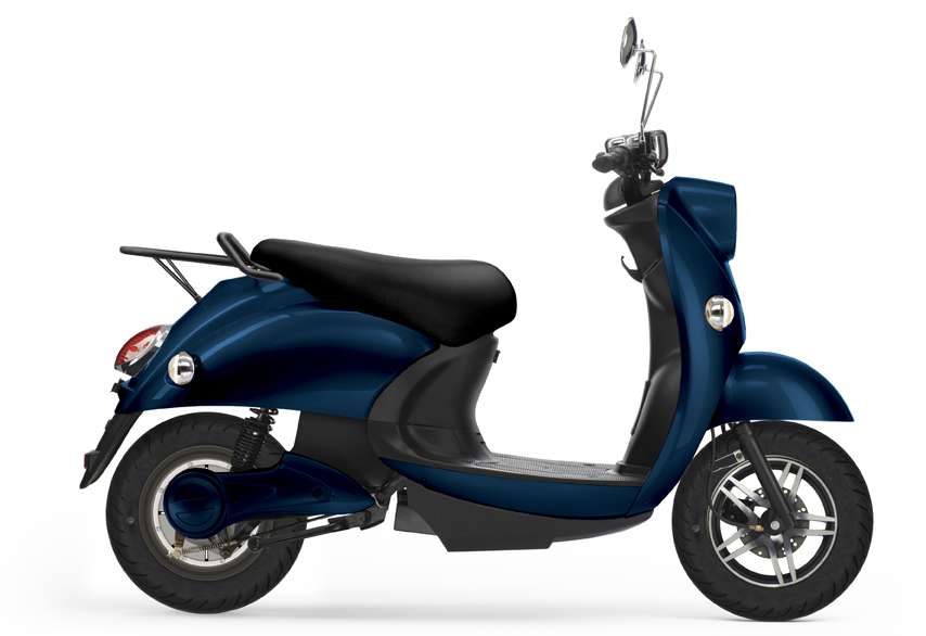 UNU, scooter électrique bleu nuit.